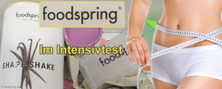 foodspring erfahrungen im test abnehmen mit shape shakes caps. Black Bedroom Furniture Sets. Home Design Ideas